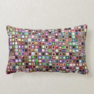 Flippiges Mosaik-Fliesen-Muster mit Juwel-Tönen Kissen