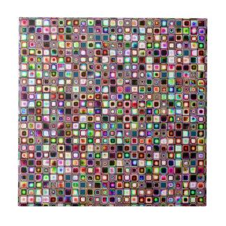 Flippiges Mosaik-Fliesen-Muster mit Juwel-Tönen Kleine Quadratische Fliese