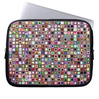 Flippiges Mosaik-Fliesen-Muster mit Juwel-Tönen Computer Schutzhülle