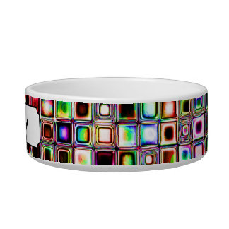 Flippiges Mosaik-Fliesen-Muster mit Juwel-Tönen Katzen-Näpfe
