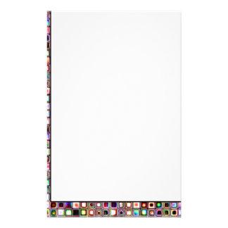 Flippiges Mosaik-Fliesen-Muster mit Juwel-Tönen Personalisierte Büropapiere
