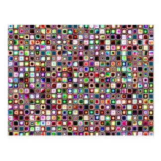 Flippiges Mosaik-Fliesen-Muster mit Juwel-Tönen Postkarte