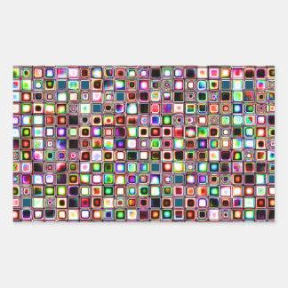 Flippiges Mosaik-Fliesen-Muster mit Juwel-Tönen Rechteckiger Aufkleber