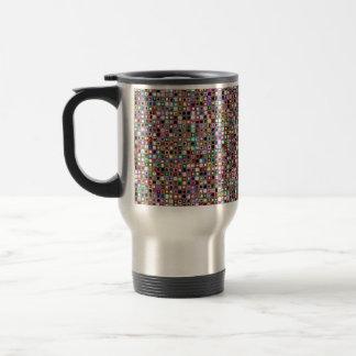 Flippiges Mosaik-Fliesen-Muster mit Juwel-Tönen Reisebecher