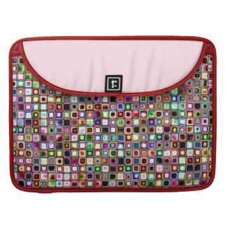Flippiges Mosaik-Fliesen-Muster mit Juwel-Tönen Sleeve Für MacBooks
