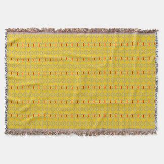 flippiges mutiges auf Senf-Wurf Decke