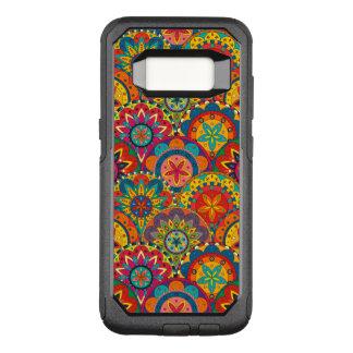 Flippiges Retro buntes Mandala-Muster OtterBox Commuter Samsung Galaxy S8 Hülle