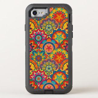 Flippiges Retro buntes Mandala-Muster OtterBox Defender iPhone 8/7 Hülle