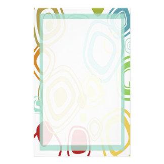 Flippiges Retro Muster-Briefpapier Bedrucktes Büropapier