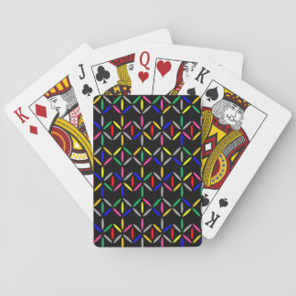 flippiges Retro mutiges auf schwarzen Spielkarten