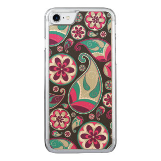 Flippiges Retro Paisley-Muster Carved iPhone 8/7 Hülle