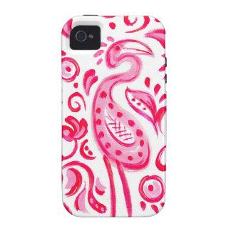 Flippiges rosa Flamigo Paisley Muster iPhone 4/4S Hülle