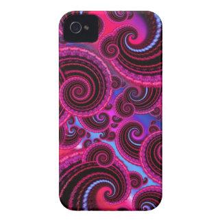 Flippiges Rosa-und Türkis-Strudel-Muster iPhone 4 Case-Mate Hüllen