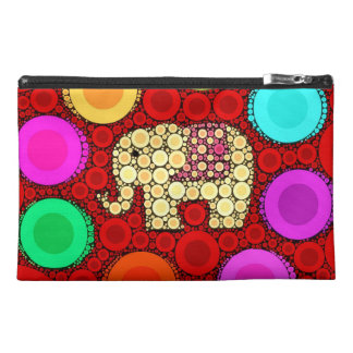 Flippiges rotes Elefant-konzentrische Kreis-Mosaik