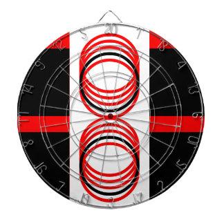 Flippiges rotes schwarzes modernes 4Cory Dartscheibe