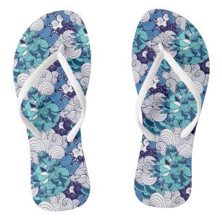Flippiges Seashell-Muster Flip Flops