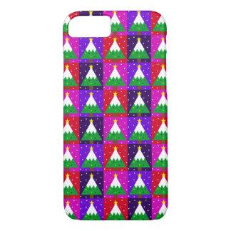 Flippiges Weihnachtsbaum-Muster iPhone 8/7 Hülle