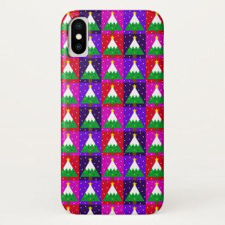 Flippiges Weihnachtsbaum-Muster iPhone X Hülle
