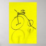Flippiges yello Fahrrad Plakat