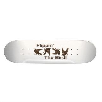 Flippin der Vogel Skateboard Deck
