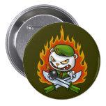 Flippy Flammen-Tätowierungs-Knopf Button