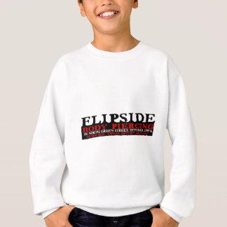 Flipside schwarzes und rotes Logo Sweatshirt
