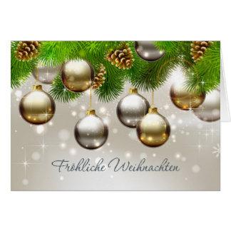 Flitter, Kiefer, Kegel Deutsch-Weihnachten Karte