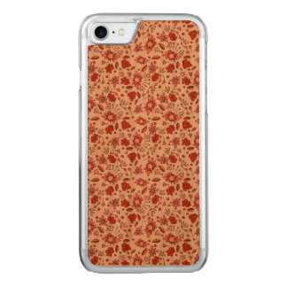 Flittering mit Blumen Carved iPhone 8/7 Hülle