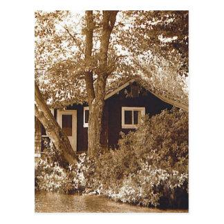 Flitterwochen-Hütte Postkarte