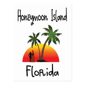 Flitterwochen-Insel Florida Postkarte
