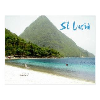 Flitterwochen, St Lucia Postkarte