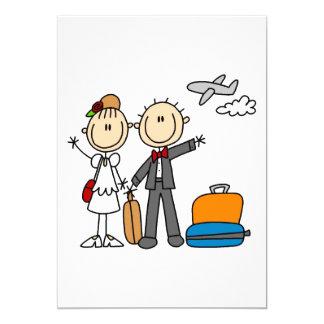 Flitterwochen-Zeit für die Braut und den Bräutigam 12,7 X 17,8 Cm Einladungskarte