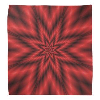 Flockiger Stern im roten Bandana Kopftuch