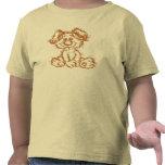 Flockiger Welpen-T - Shirt für Kleinkinder