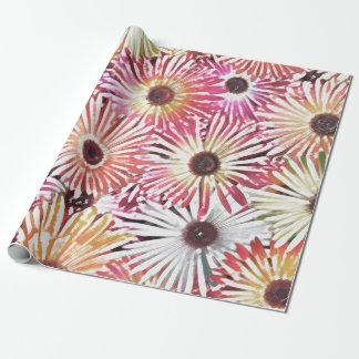 Flockiges BlumenPackpapier Geschenkpapier