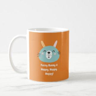 Flockiges Häschen ist hopfenreich, hopfenreich, Kaffeetasse