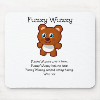 Flockiges Wuzzy Mousepad