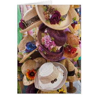 Flohmarkt-Karte - Gestell der Hüte