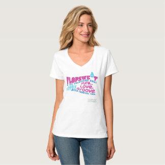 Flopsweat u. der zitternde kalte Konzert V-Hals T-Shirt