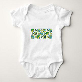 Flor_Brasil Baby Strampler
