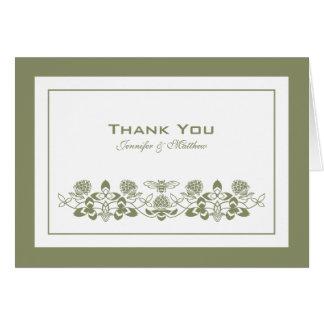 Flora-Biene danken Ihnen, mit Namen zu kardieren Karte
