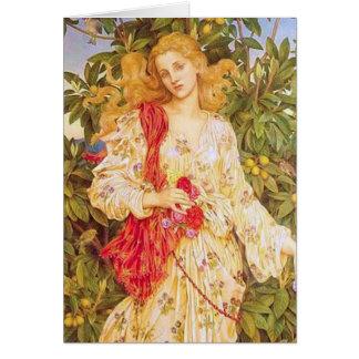 Flora durch Evelyn de Morgan Karte