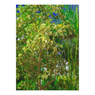 Flora in Asien mit Palmen und blauem Himmel 14 X 19,5 Cm Einladungskarte