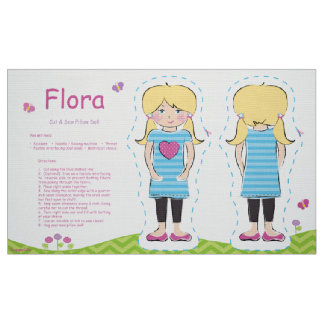 Flora schnitt u. näht Kissen-Puppe Stoff