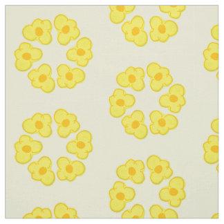 Floraentwurfsring des kleinen gelben Blumengewebes Stoff