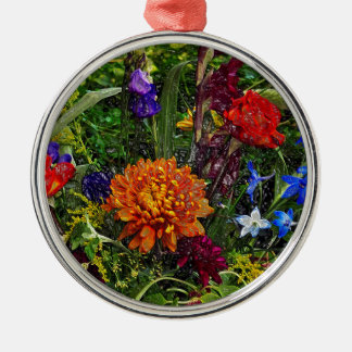 Floral Dream of August Silbernes Ornament