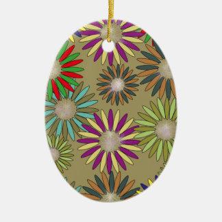 Floral Fantasy Ovales Keramik Ornament