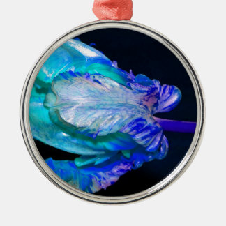 Floral Still Life with Tulip Rundes Silberfarbenes Ornament