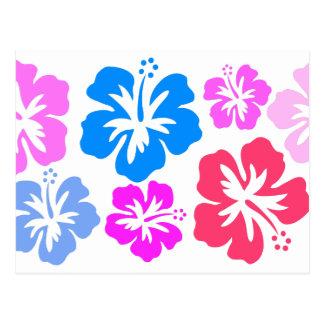 Floral und pink postkarte