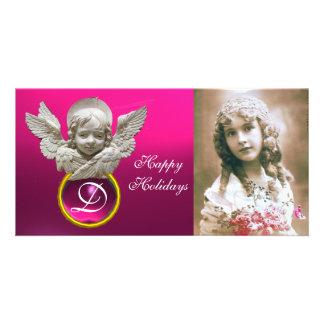 FLORENTINISCHER RENAISSANCE-ENGEL pinkfarbenes Photokarten